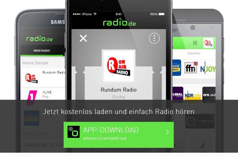 Installation radio.de-APP